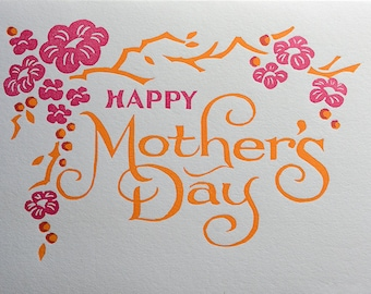 Mothers Day Cherry blossom card