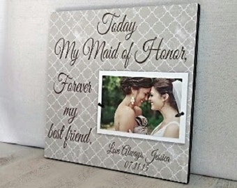 Maid of Honor Gift : Bridesmaid Gift, 15x15 Perfect Way to Say Thank-You Picture Frame, Best Friend, Sister, Wedding Party Gift