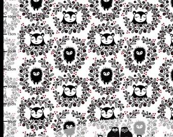 Hedgehog knit fabric -Paapii fabric -girl hedgehog fabric-euro knit fabric-paapii hedgehog fabric-euro knits-organic knit fabric-knit fabric