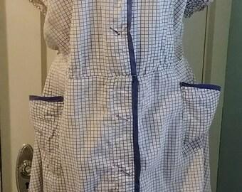 1930 30s -1940 40s Plus size house dress XL