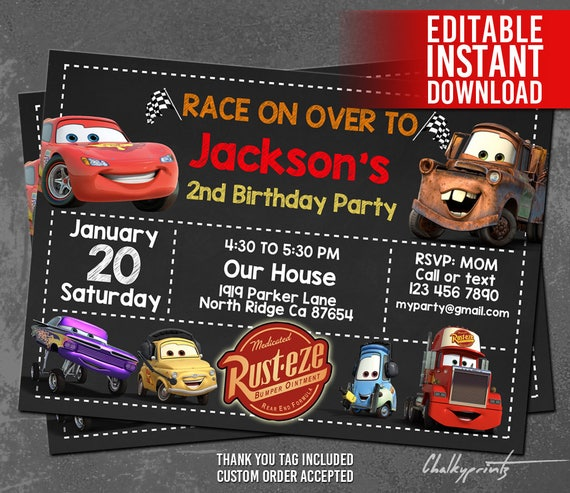 disney cars invitations Minimfagencyco