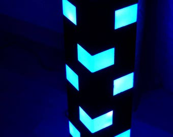 Wooden lamp with Color-changing RGBW strip lights