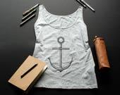 Anchor tank top / / women...
