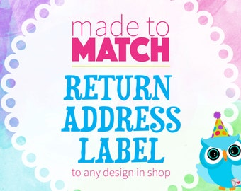 Address Labels, Matching Address Labels, Mailing Labels, Matching Party Coordinates, Printable