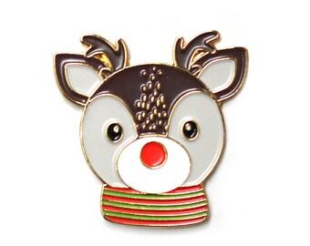 Reindeer pin   Etsy