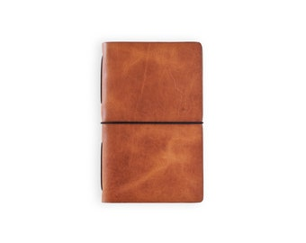 Moleskine Cahier Leather Journal - Horween English Tan
