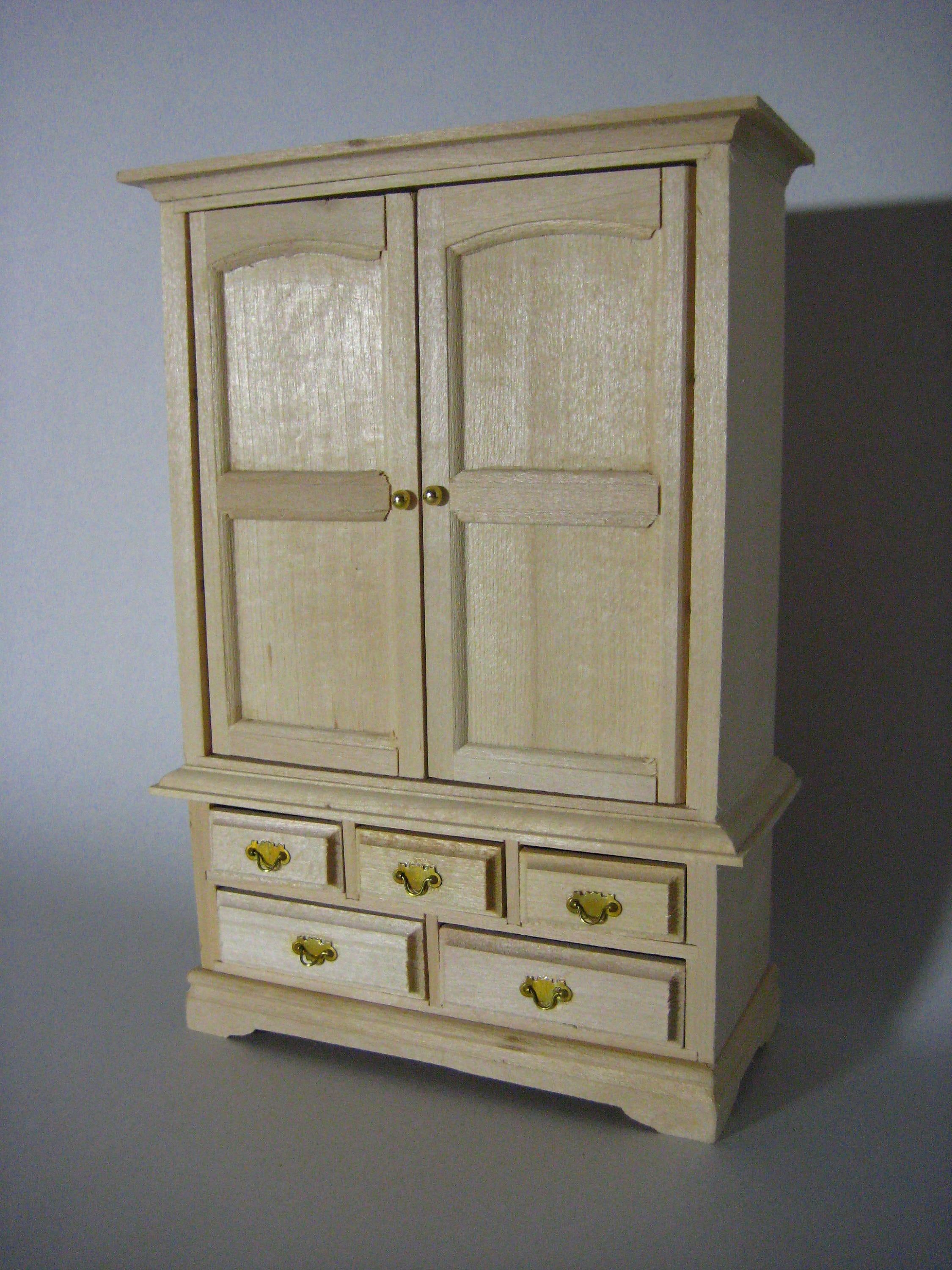 unfinished dollhouse furniture. Description. Unfinished Wood Miniature Cabinet Dollhouse Furniture N