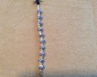 One decade rosary keychain