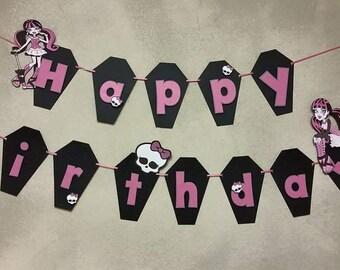 Monster High Birthday Banner