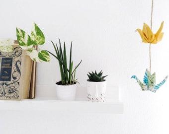 Móvil origami, móvil grullas origami, móvil grullas de tela, móvil para niños, móvil de cuna, móvil tela selva, móvil decorativo, selvático