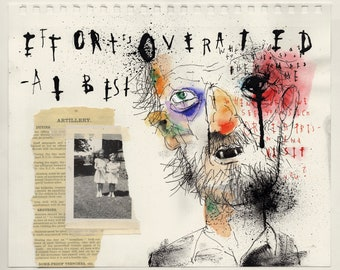 OverRated - Original Mixed Media Illustration / Collage
