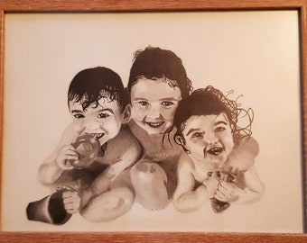 Custom Graphite Pencil Portrait Drawings From Your Photo.