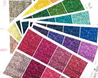 Chunky Glitter Headers | Planner Stickers, Functional Rainbow Stickers, Header Stickers, Glitter Stickers, Rainbow Glitter