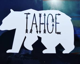 Lake Tahoe Bear Vinyl Decal/Car Sticker