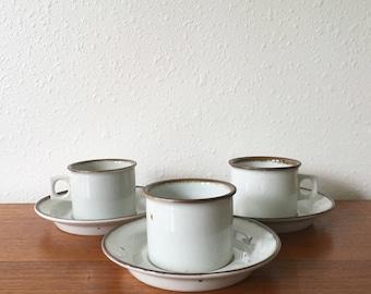 Dansk Niels Refsgaard Brown Mist Cup and Saucer Set