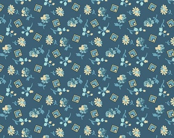 Yardage, Something Blue 8828-B Delft Something Borrowed by Edyta Sitar from Andover Fabrics, Traditional Quilt, Reproduction Fabric