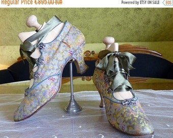 ON SALE 1912 Evening Shoes, Antique Shoes, Edwardian Shoes, Antique Pumps, Andreas Neider, Vienna