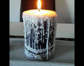 Candle * * Dark Princess * * 11x8cm