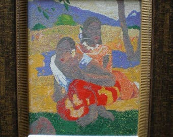 painting to stitch the Tahitian Gauguin