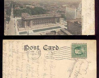 Bird's-Eye View Showing New Post Offioce and K. P. Building Indianapolis Indiana Vintage Postcard #191