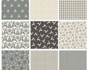 Makower Christmas 2017 Scandi 4 Fabric - Grey