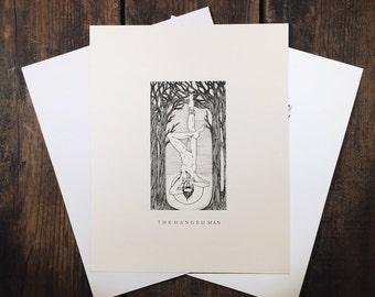 "The Hanged Man - 8x10"" tarot print"