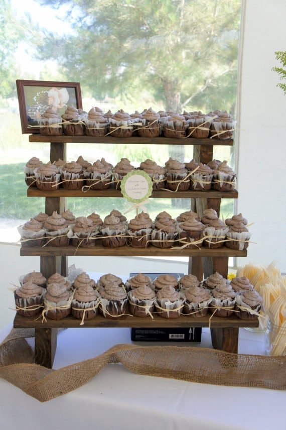 how to make cupcake wedding cake stands the cupcake stand 4 tiered rustic wooden display stand 15926