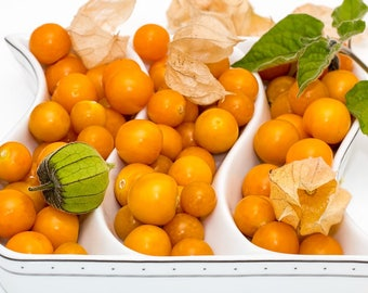 FRESH RARE Cape Gooseberry Seeds, Physalis peruviana/Golden berry/Golden strawberry/Ground cherries, Tasty and Beautiful, Organic, Heirloom