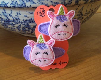 Unicorn Hair or Barrette Clip for girls or toddlers