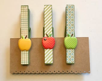 Decorated Clothespin Magnets