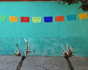 happy birthday papel picado mexican banner rectangle bunting mexican party decor happy birthday paper decor BIG
