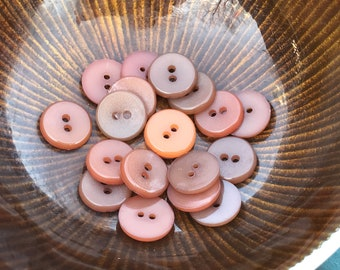 Lot of vintage buttons - shades of brown