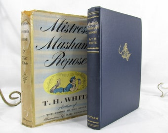 Mistress Masham's Repose, T.H. White Illustrated by Fritz Eichenberg, 1946 First Edition Hardcover Book, Lilliput Fiction Lilliputions Story