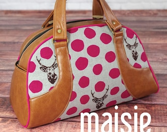 Maisie Bowler Handbag Pattern by Swoon Sewing Patterns; SWN016; DIY Handbag; Sewing Pattern