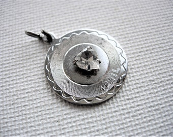 Vintage Sterling Silver April Birthstone Pendant/Charm