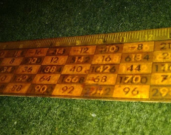 Vintage Holographic Lenticular Ruler with Advertising