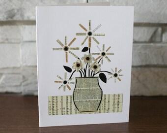 Flowers in Vase Note Cards