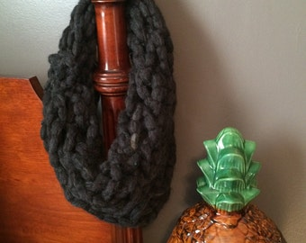 Chunky Charcoal Infinity Scarf