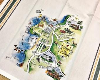 Carmel Valley Map Kitchen/Tea Towel