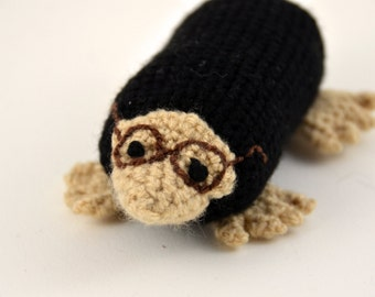 Molly the Mole Crochet Pattern, Amigurumi Mole, Crochet Mole Pattern, Animal with Glasses Crochet Pattern, Mole Amigurumi Pattern