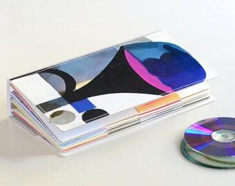 52 CD Holder Book, CD Wallet, CD Storage Case Handmade from Upcycled Album Cover, Dvd Wallet, Cd Dvd Album