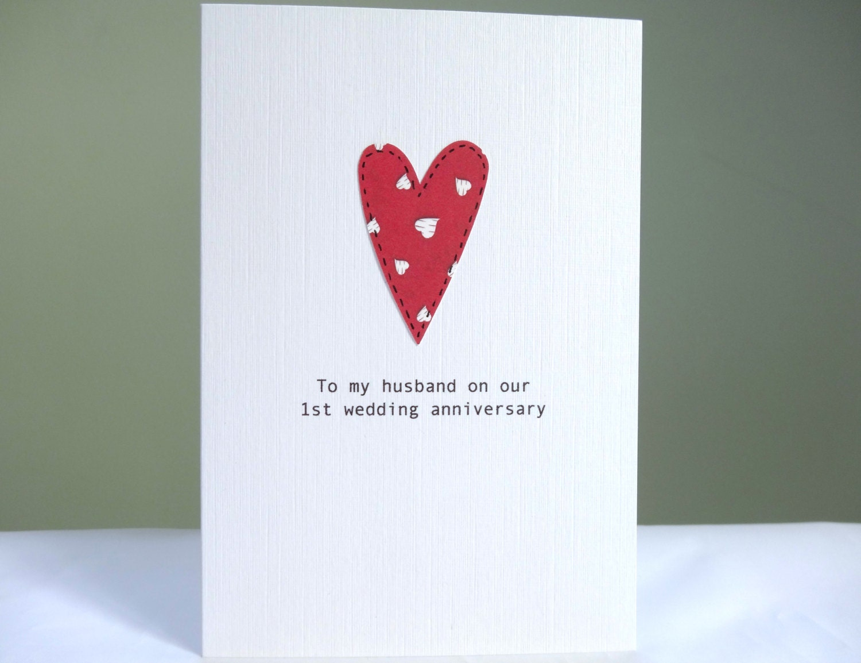 St anniversary card personalised wedding anniversary card