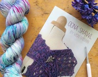 crochet pattern - women's oona shawl - PRINT copy