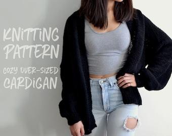 Knitting Pattern | Cozy Oversized Cardigan