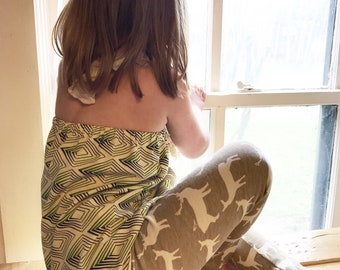 Elk Print Toddler Pants, Leggings, Girl, Boy, Neutral, Woodland, Gift, Deer, Newborn