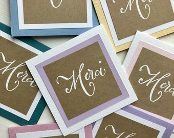 Gift Enclosure Cards, Gift Tags, Merci Thank You