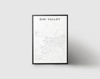 Simi Valley Map Print