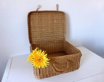 Vintage French Picnic Basket