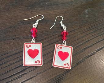 Queen of Hearts Swarovski Crystal Charm Earrings