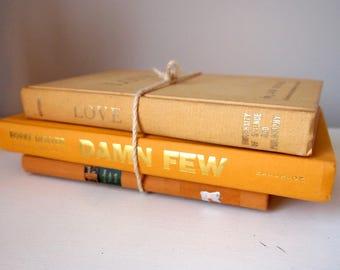 Vintage Book Set - Yellow